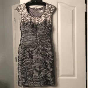 Mikael Aghal Dresses - Mikael ACHAL SILVE WITH SEQUINS DRESS SIZE 6